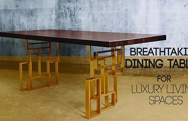 BREATHTAKING MODERN DINING TABLES FOR LUXURIOUS LIVING SPACES! Check ourhellip