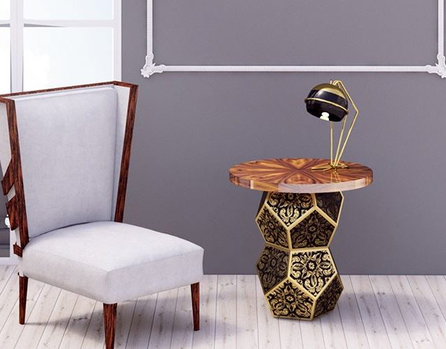 The majestic Lazuli modern sidetable features floral motifs all overhellip