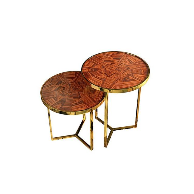 The Tarsia sidetable set combines marquetry one of the mosthellip