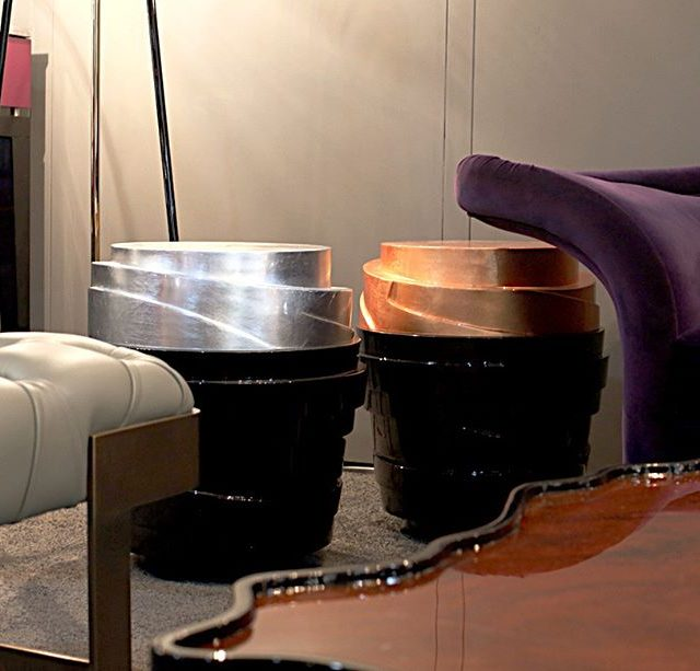 The Stratum modernsidetable with its layered wooden structure lacquered inhellip