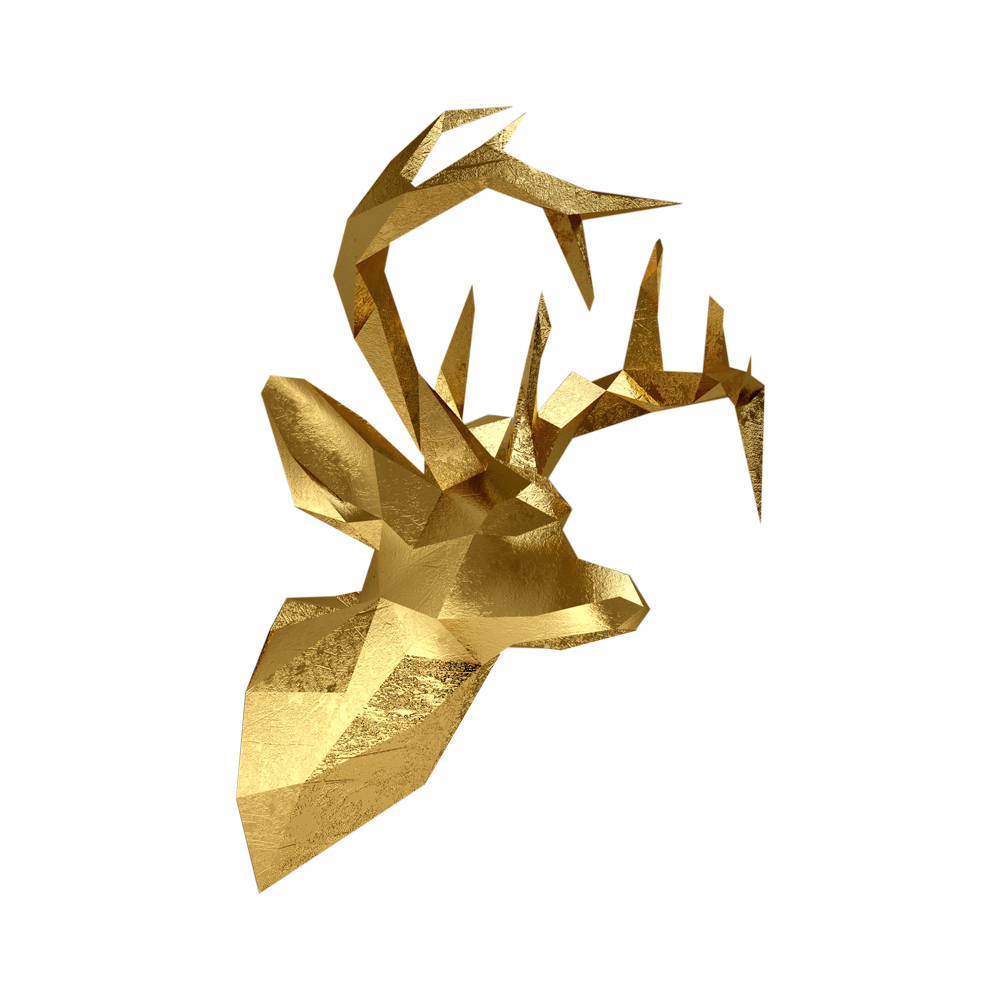Enchanting Deer Head Wall Decoration Sketch - Wall Art Collections ...