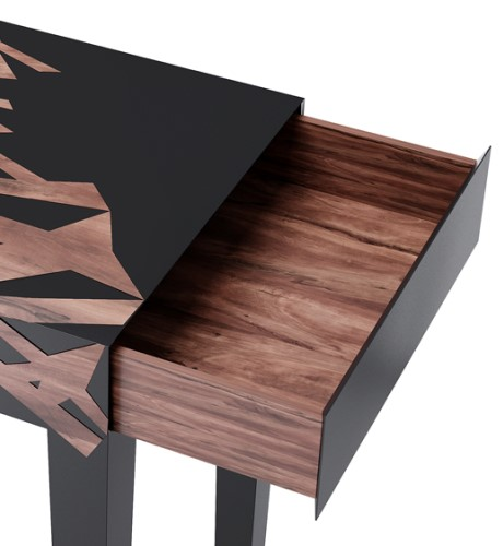 Dynasty Display Stand in lacquered wood with high gloss varnish