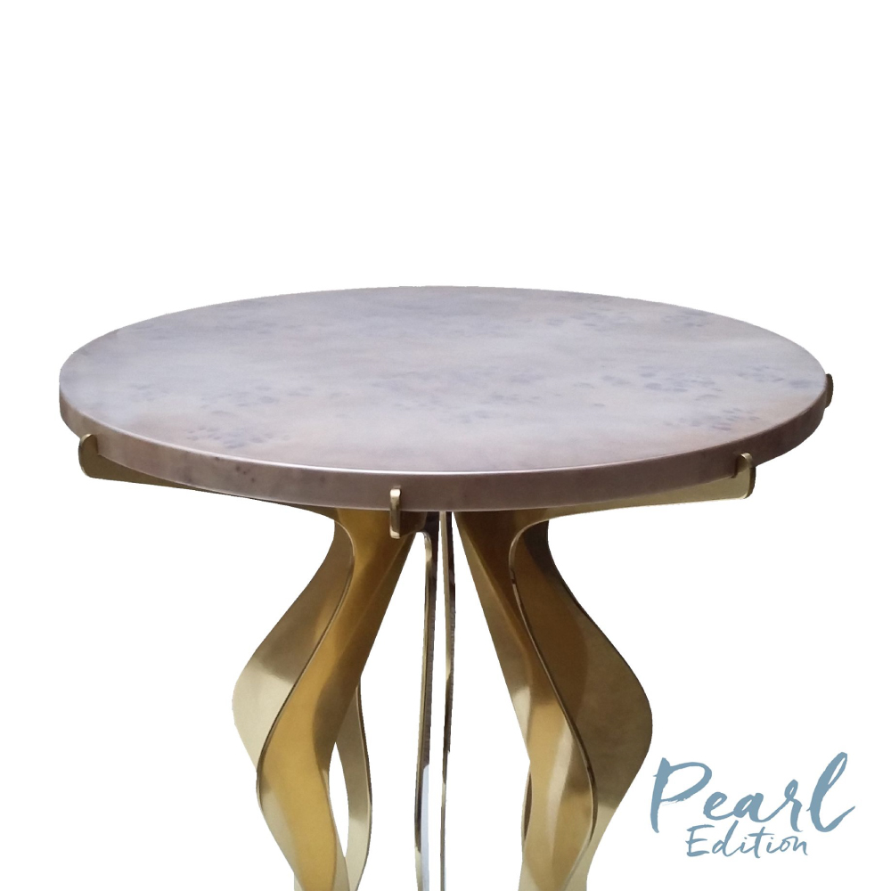 F copper side table by malabar artistic furniture f copper side table geotapseo Image collections