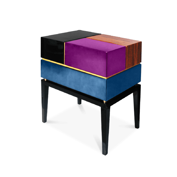 Proportion II Colorful Nightstand