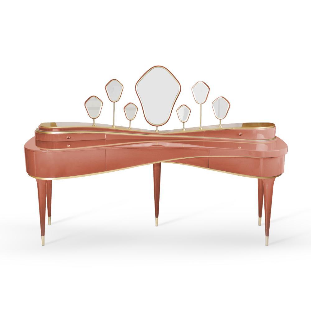 Amélie Dressing Table in dark rose