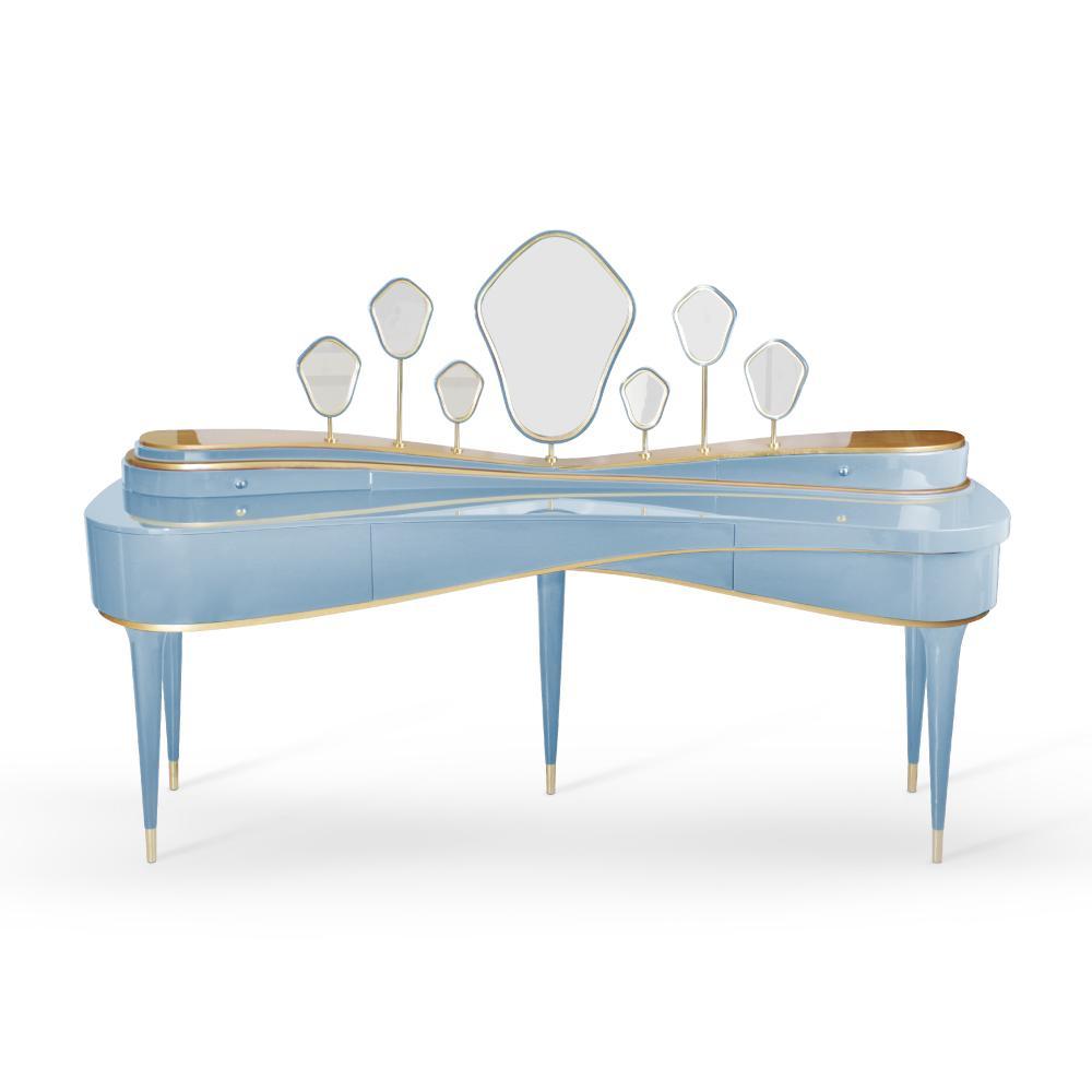 Amélie Dressing Table in Light Blue