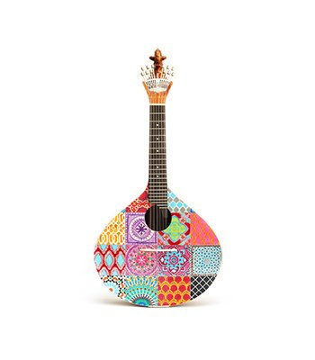 Azulejo III Portuguese Guitar is a version with highlighting the several geometric shapes and the audacious patterns