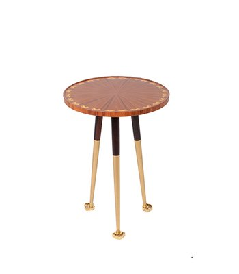 Saffron Modern Side Table, Saffron side table, marquetry furniture design, hotel classic furniture, luxury side tables, luxury bedside tables, high end side tables