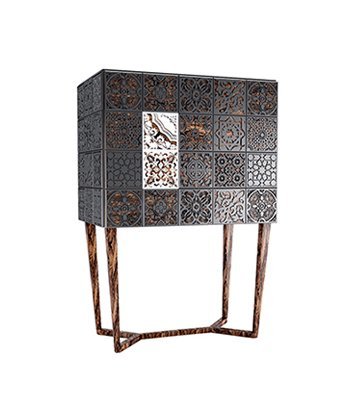modern cabinet, portuguese style tilling, malabar, decorative art, Virtuoso Exquisite Cabinet , sideboards & cabinets, high end cabinets, luxury cabinets, artistic furniture