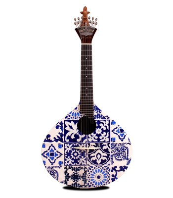 Azulejo IV Portuguese Guitar, Portuguese tiles, handpainted, Portuguese guitar, fado, Portuguese music, Portuguese, traditions, azulejo guitar, malabar, fado, fado guitars, portuguese art.