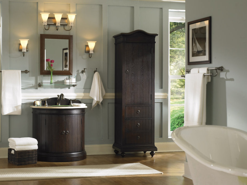 Terrific brushed nickel bathroom sconces bathroom vanity sconces 7 stylish bathroom design ideas aloadofball Image collections