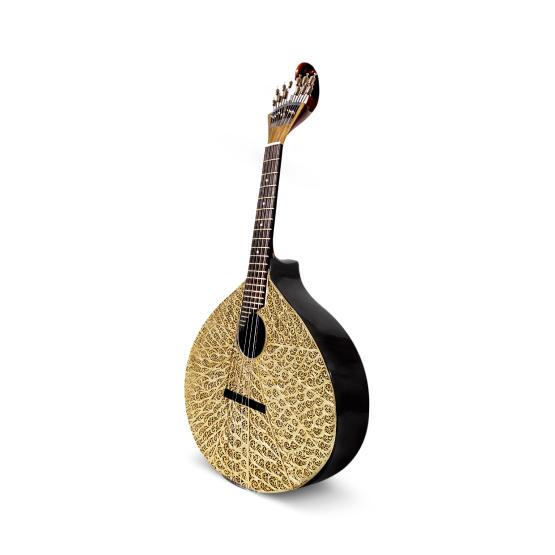 Filum Portuguese Guitar coated with gold filigree