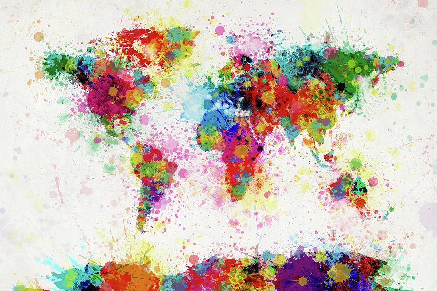 World map paint drop michael tompsett malabar artistic furniture best artistic cities in the world gumiabroncs Choice Image