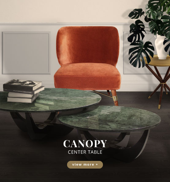 Canopy modern center table