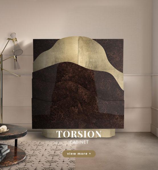 Torsion modern cabinet