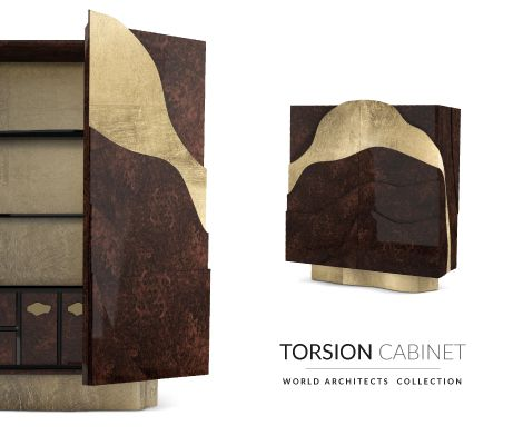 torsion contemporary cabinet