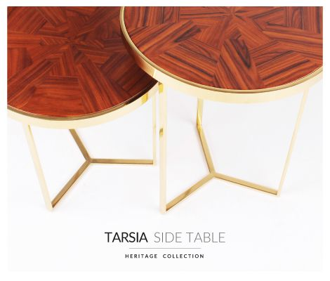 tarsia contemporary table set