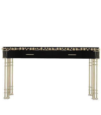 Pilar Console with black Lacquered body