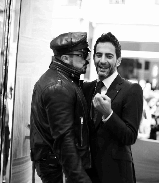 """Peter Marino and Marc Jacobs at the Louis Vuitton opening of their first """"London Maison"""""""