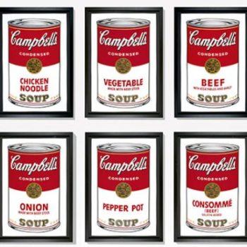 Campbell's soup cans pop art