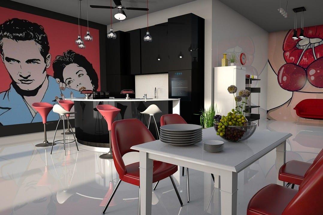 Kitchen in Pop Art Style