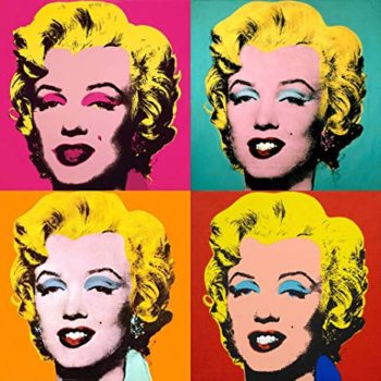 Marilyn monroe in pop art by andy warhol