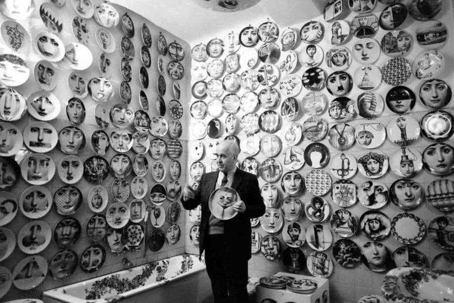 Lina Cavalieri Plates by Piero Fornasetti