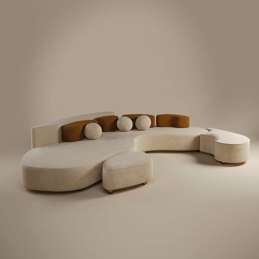 Mood sofa with modular design