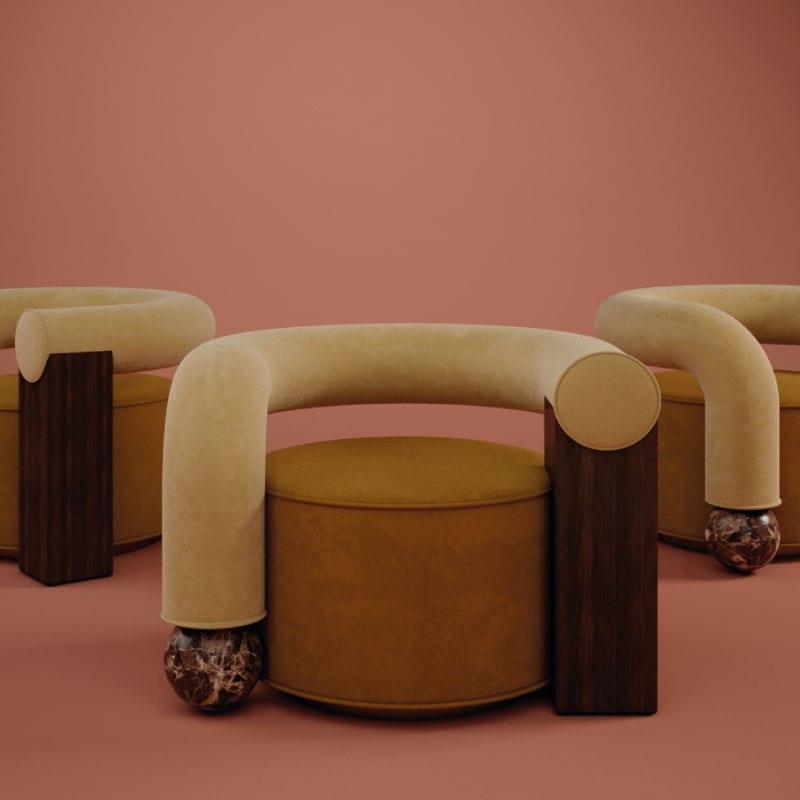 Galatea Armchair group by Malabar | Artistic Furniture | Artistic Armchairs