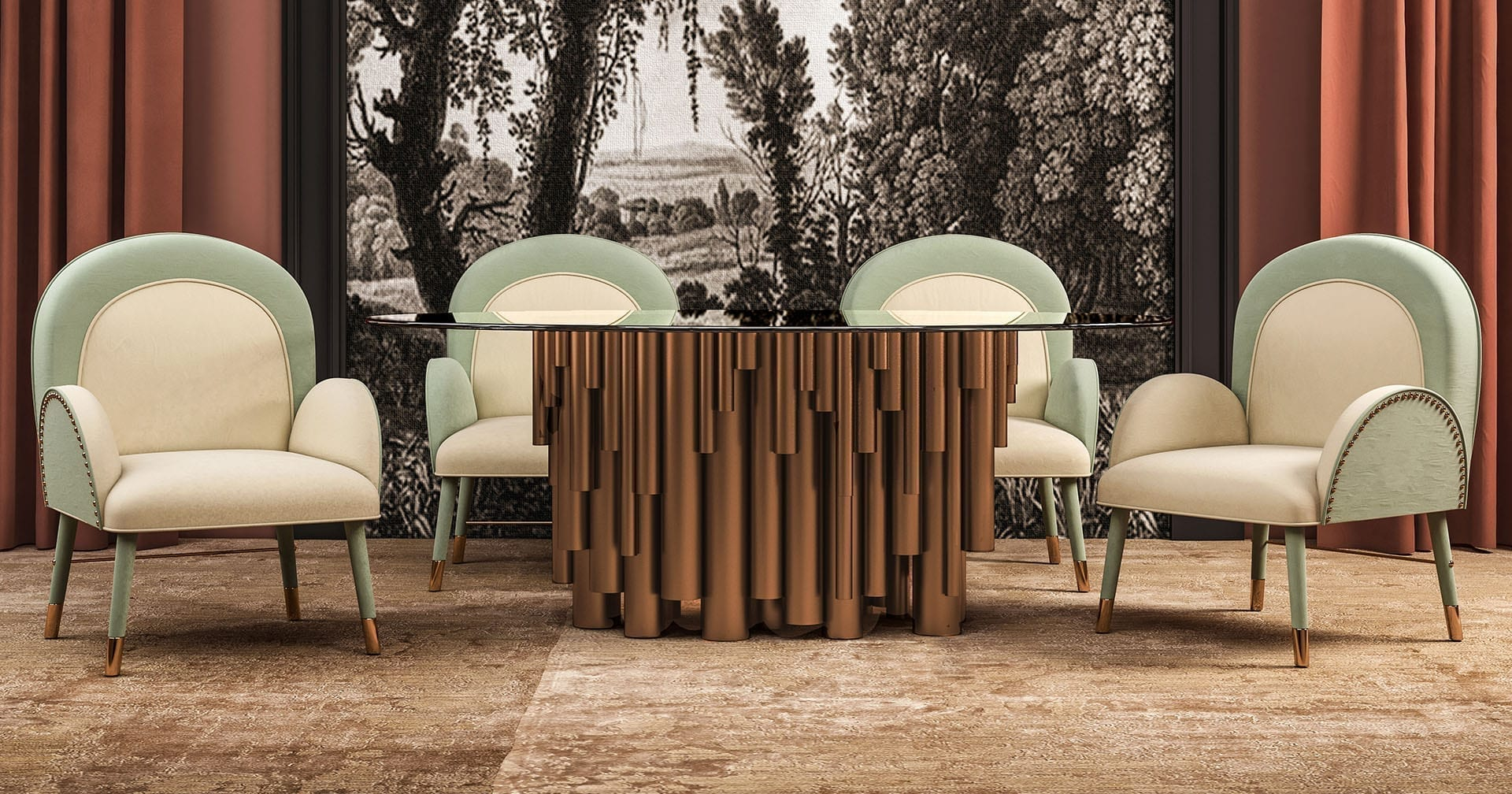 wanderlust dining table ambience social