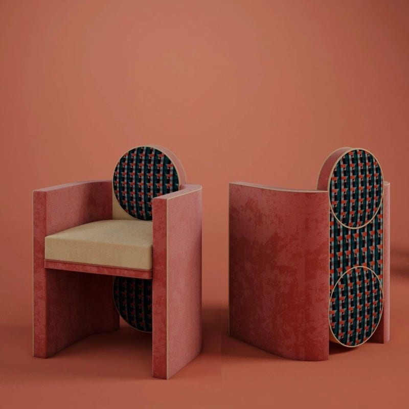 Art meets interior design - mak suh muh dining chair