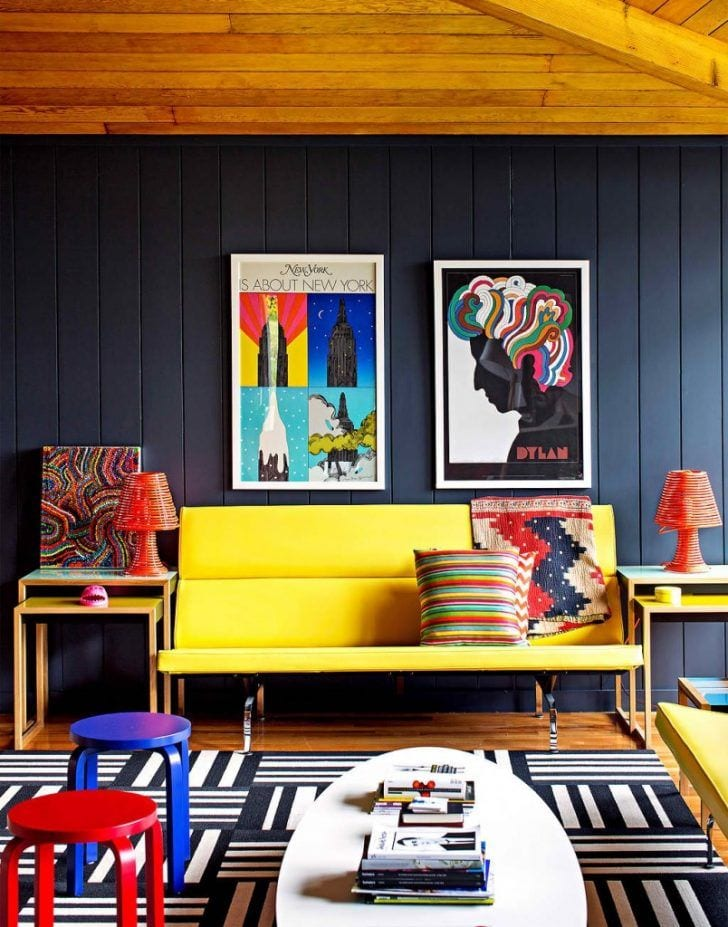 Bold colors - '80s interior design trends