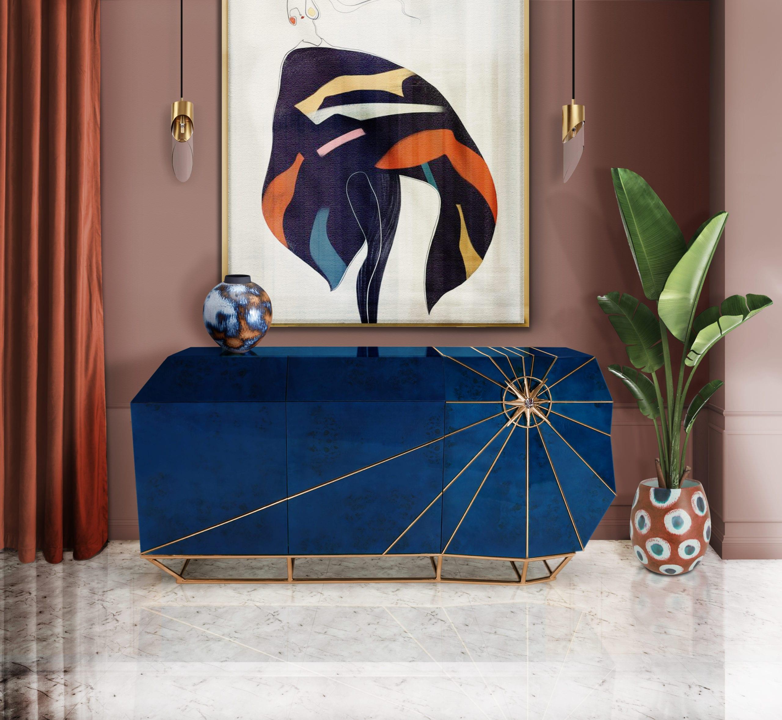Classic blue -80s interior design trends