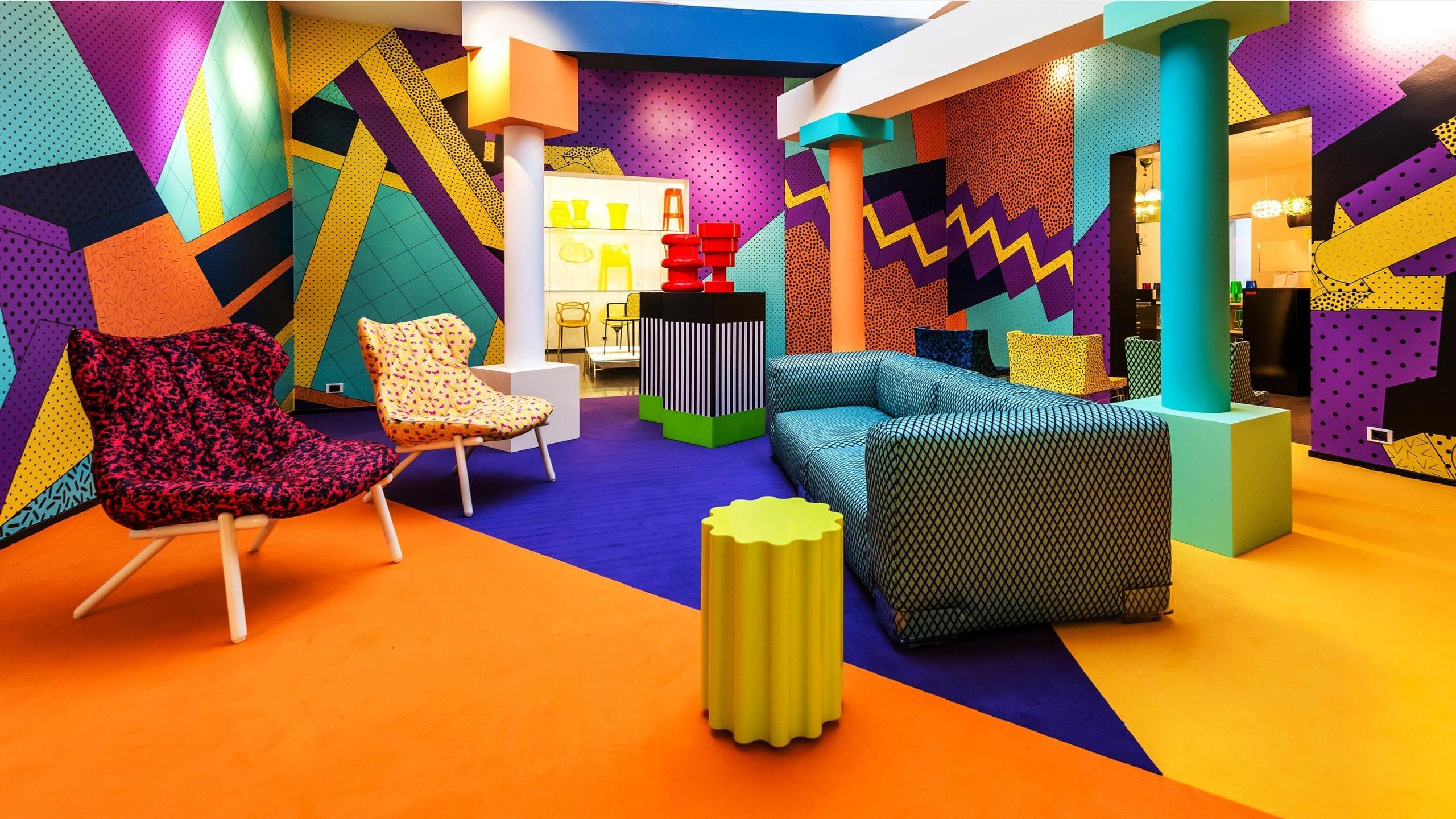 Memphis design - '80s interior design trends