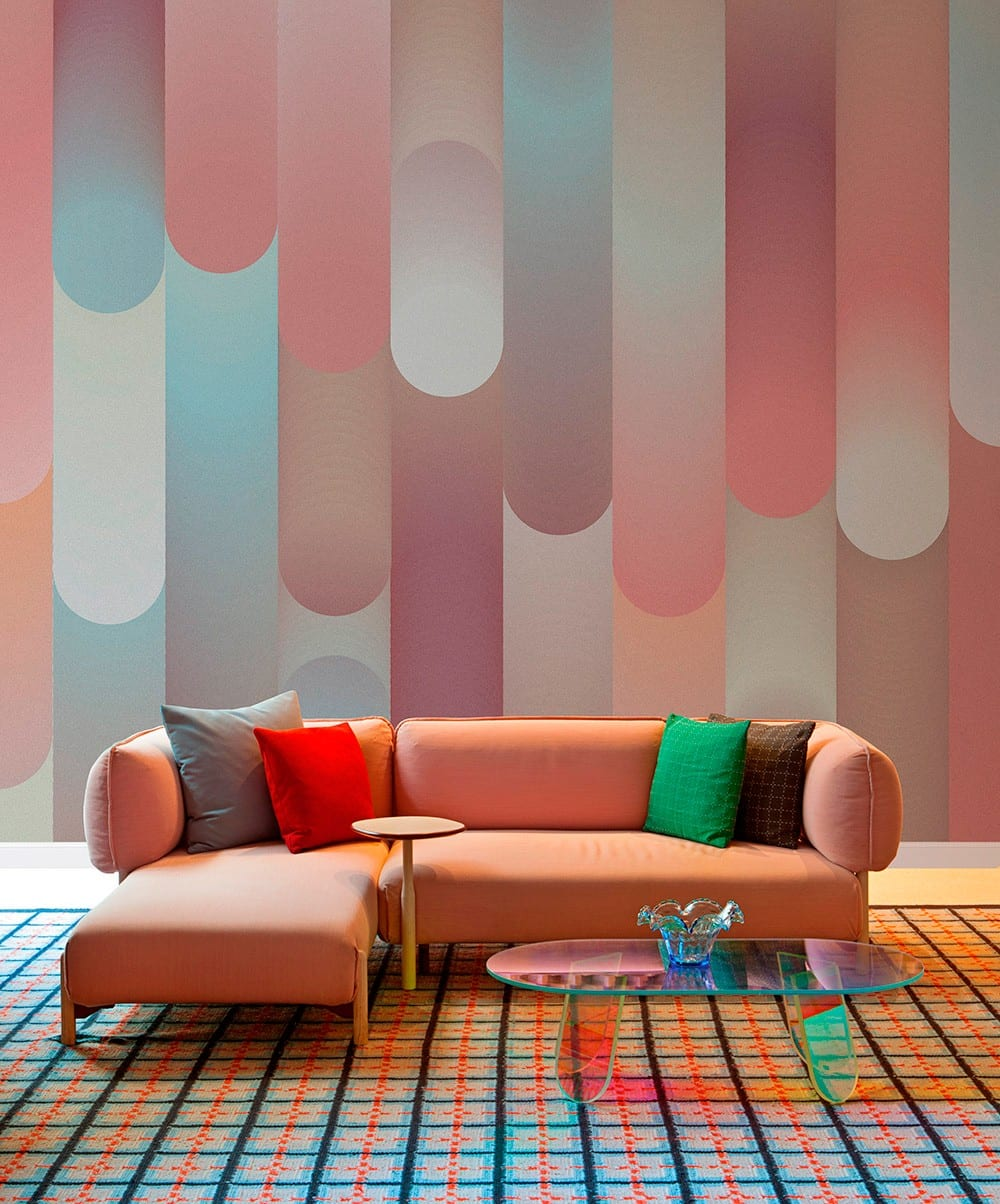 Tres tintas barcelona wallpaper designed by patricia urquiola