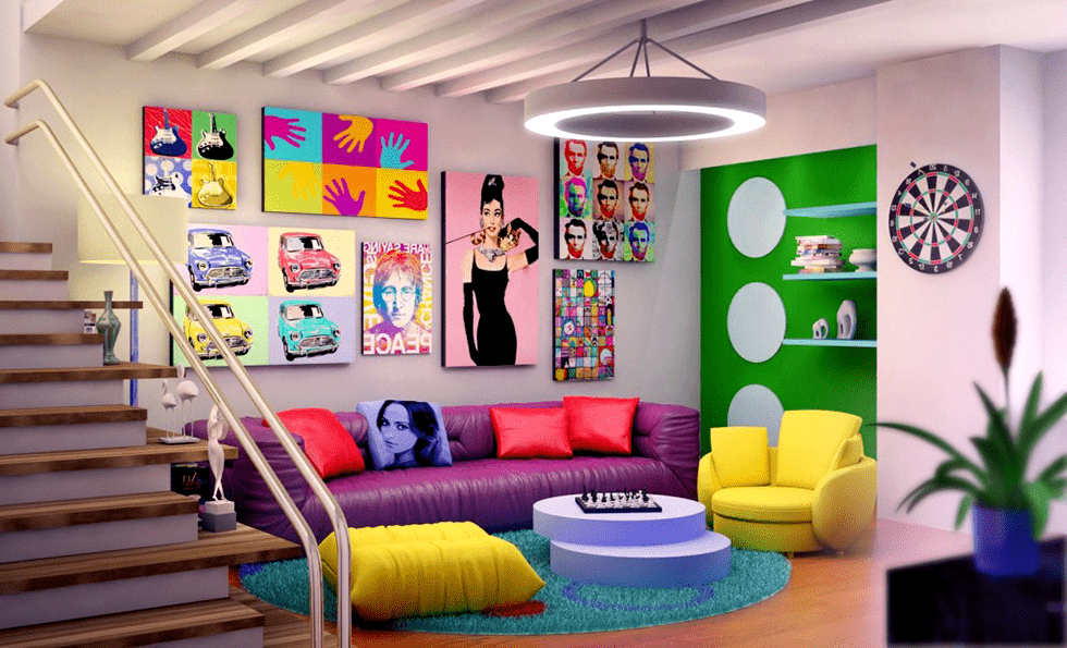 Pop Art - '80s Interior Design Tremds