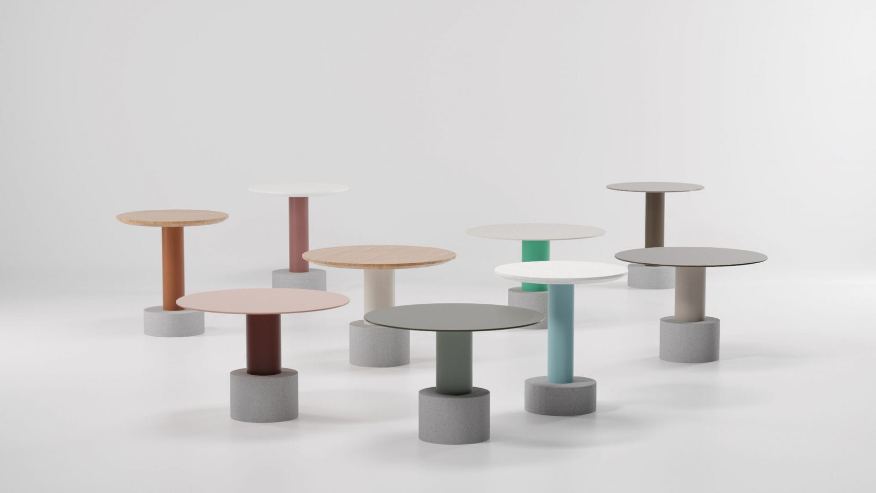 Postmodern tables by patricia urquiola for kettal