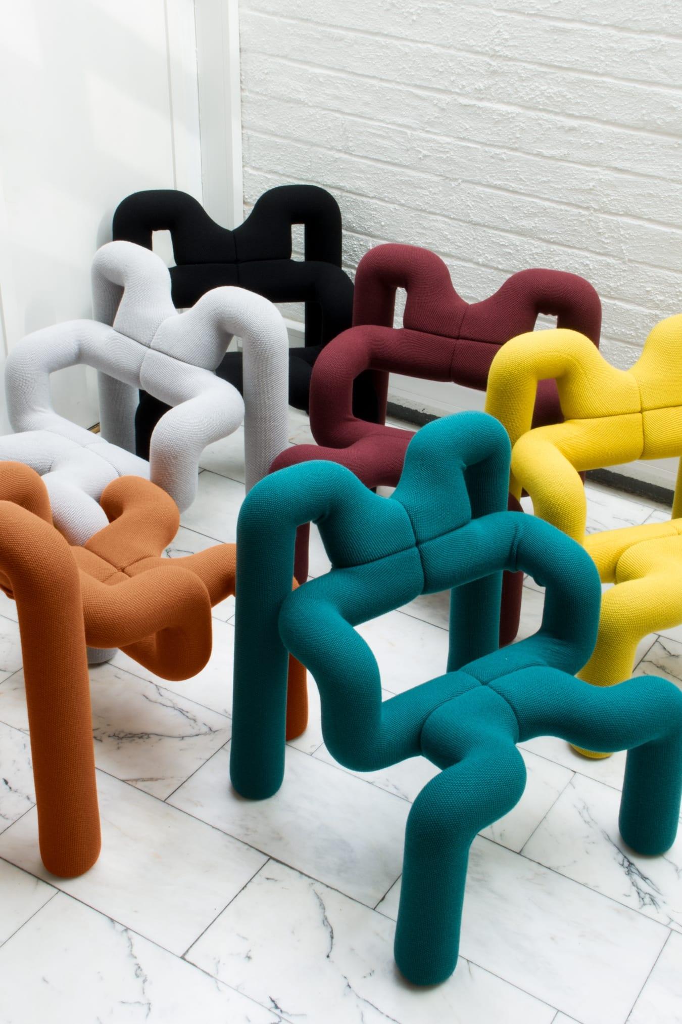 Sculptural seating - '80s interior design trends