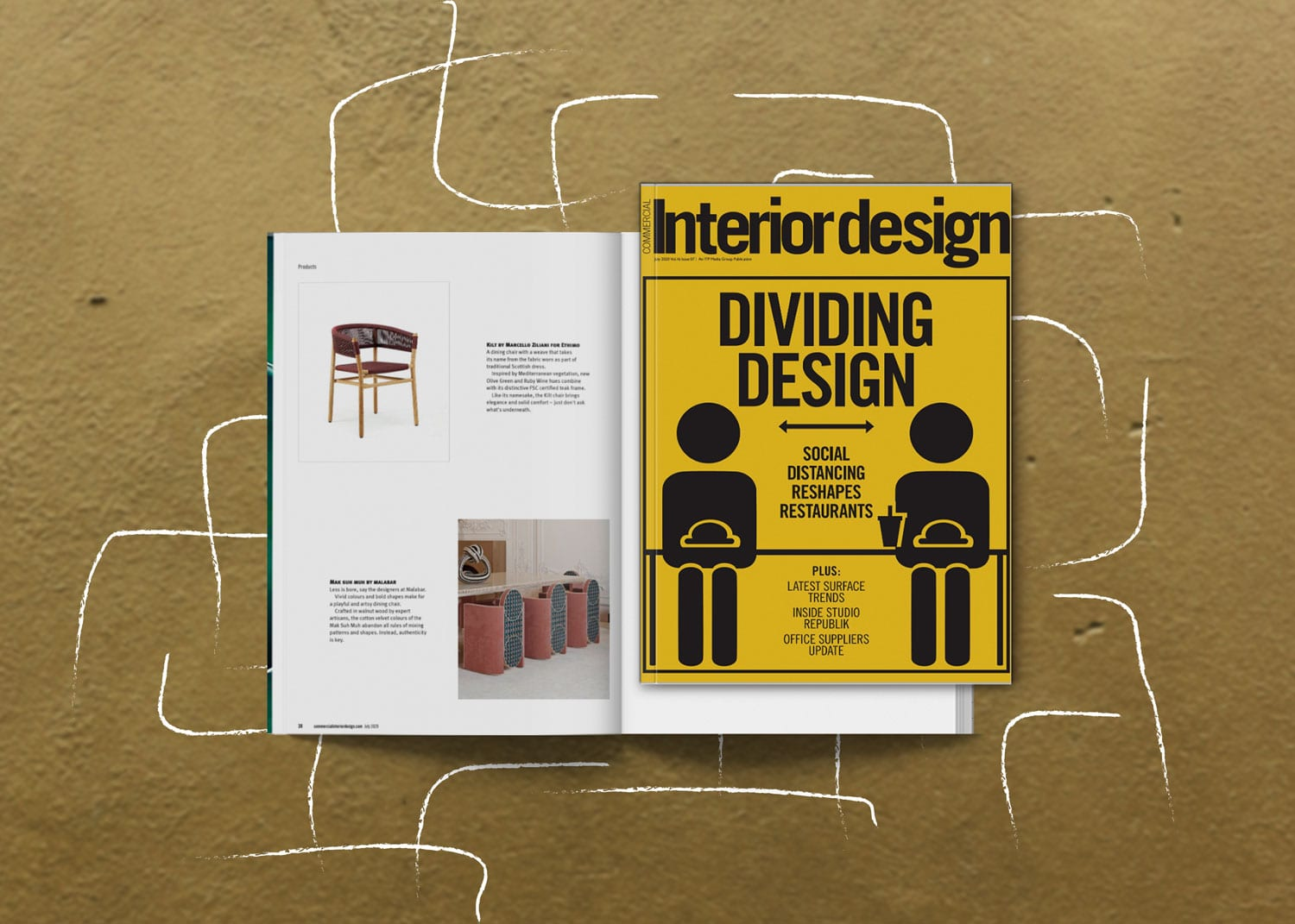 Mak suh muh dining chair at commercial interior design magazine