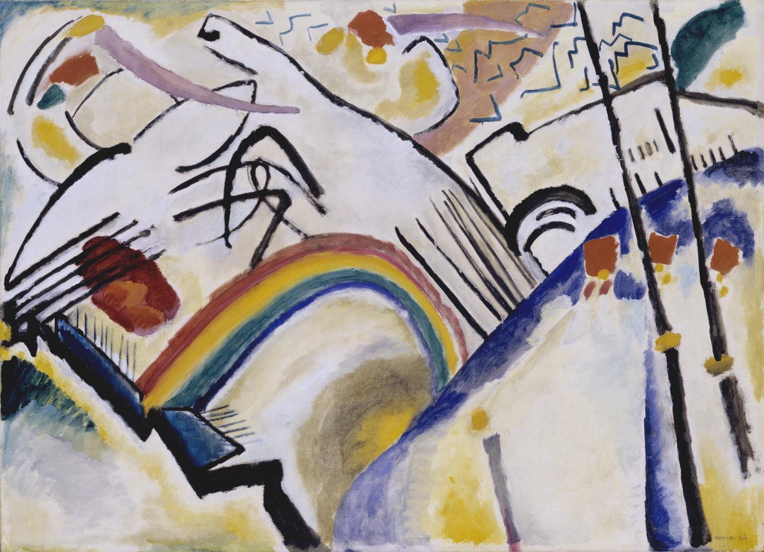 Abstract art cossacks 1910-1 by wassily kandinsky