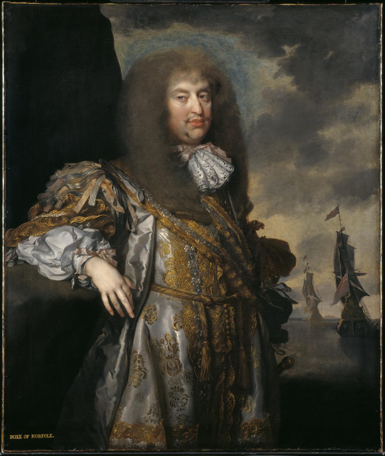 Henry howard, 6th duke of norfolk 1670-5 gilbert soest
