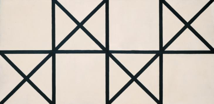 Orthogonal / diagonal composition 1954 anthony hill