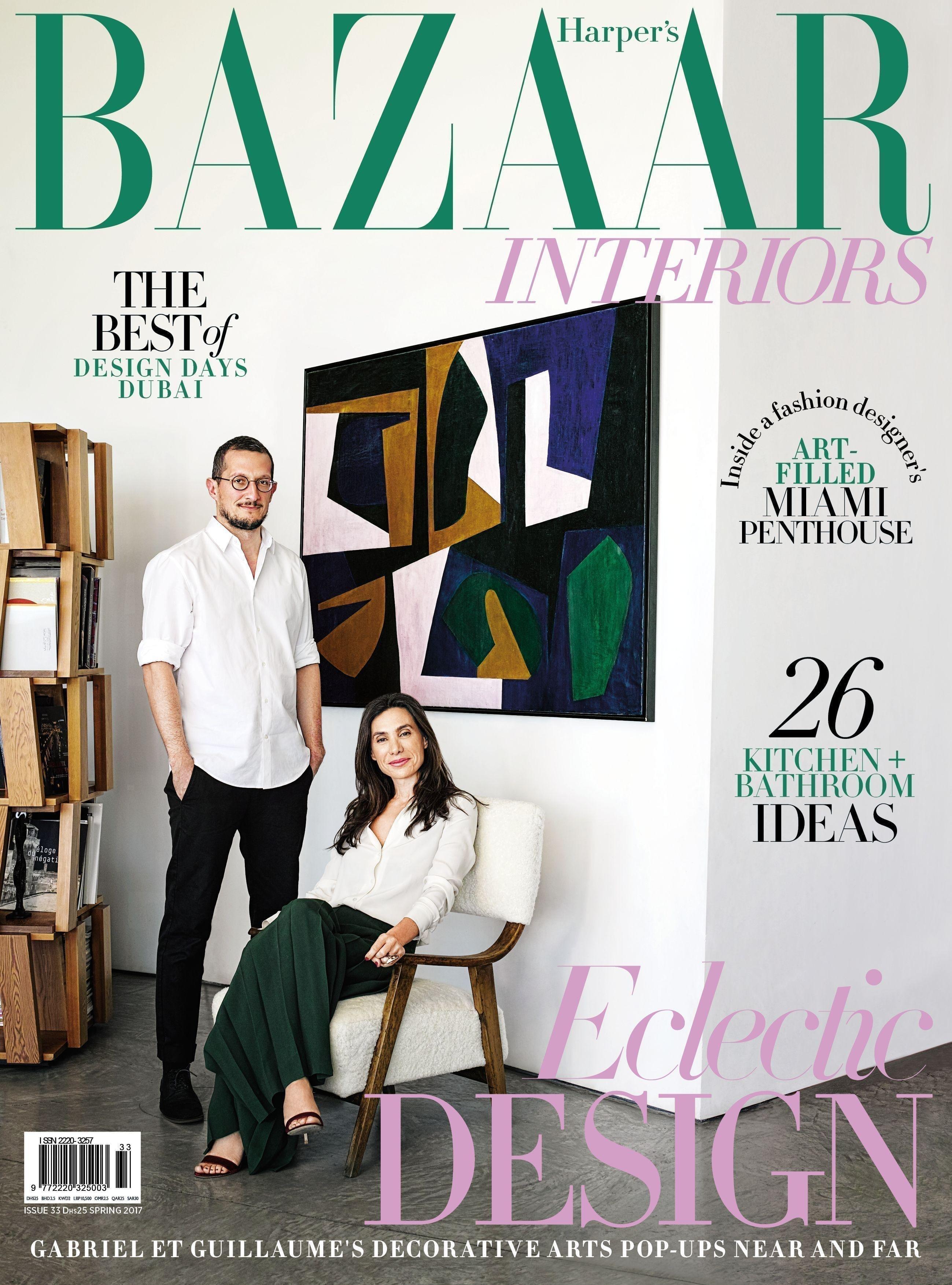 Most known interior design magazines- harpers bazaar interiors
