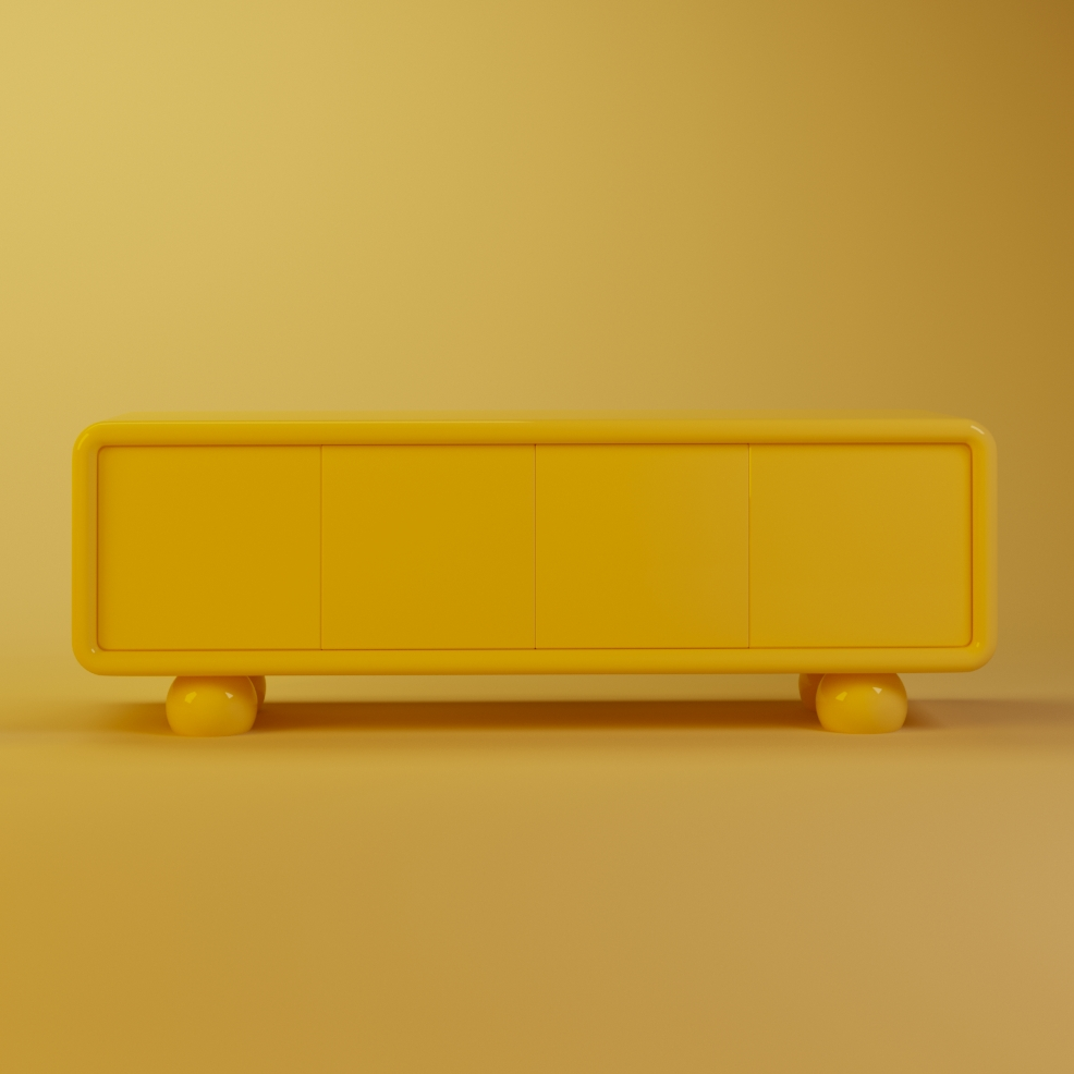 Mon ooh sideboard illuminating pantone
